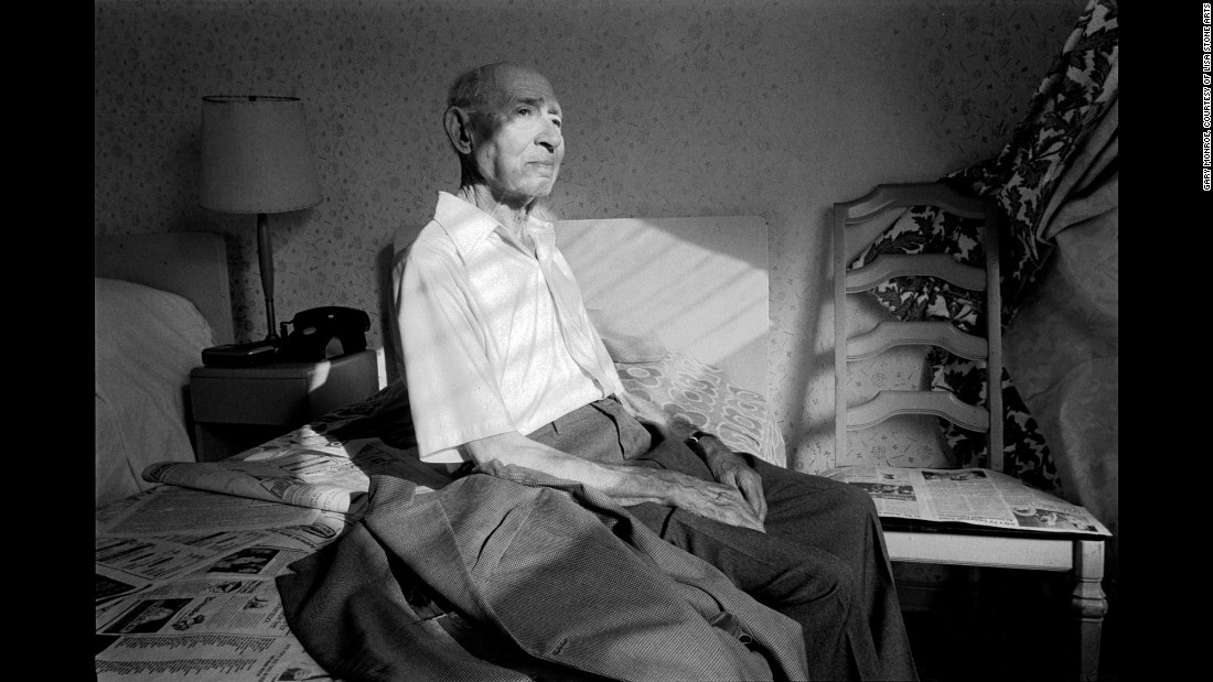 "A man sits in his room at the An-Nell Hotel in 1984. Monroe says he has been fond of this image for a long time. ""Growing up in South Beach, being Jewish, and becoming a photographer -- the chips fell in place,"" he said. ""I even knew that this was all I wanted to do for a decade, and it worked out that way."""