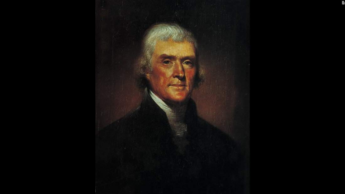 Primary author of the Declaration of Independence, Jefferson became the second vice president in 1796 after he lost the Electoral College vote to John Adams by the slimmest of margins (71-68). During Adams' Federalist administration, Jefferson and James Madison tried to rally opposition, especially to the Alien and Sedition Acts. Jefferson was elected President in 1800, when this portrait was made by Rembrandt Peale, and he later founded the University of Virginia.
