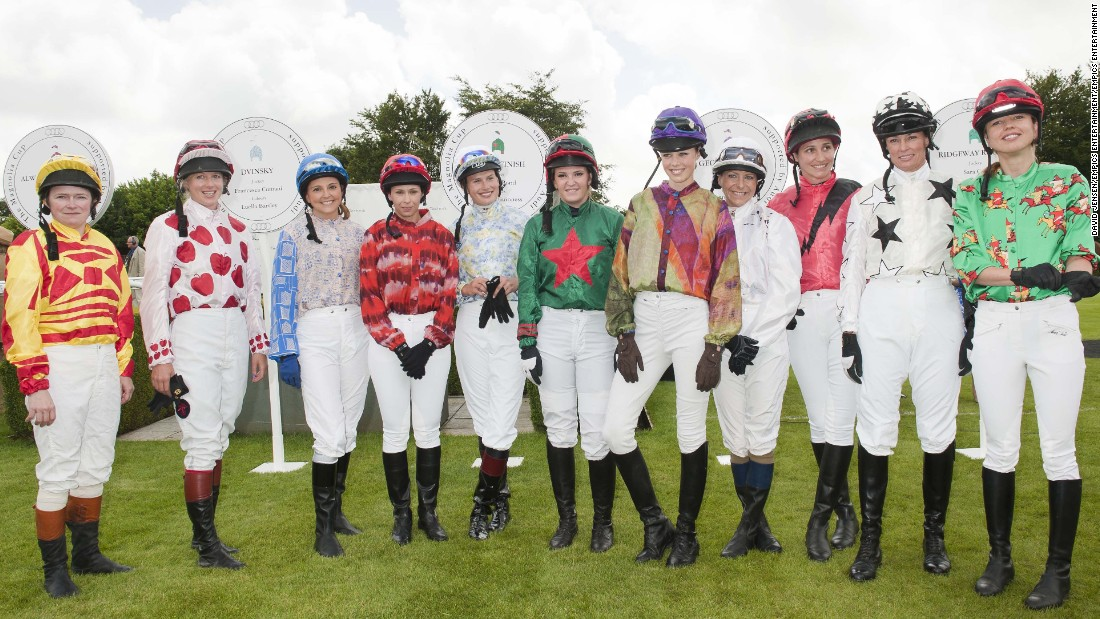 Each year the Magnolia Cup features women from a range of business backgrounds, with little to no experience of horse racing. Pictured is the 2012 lineup at the Glorious Goodwood festival.