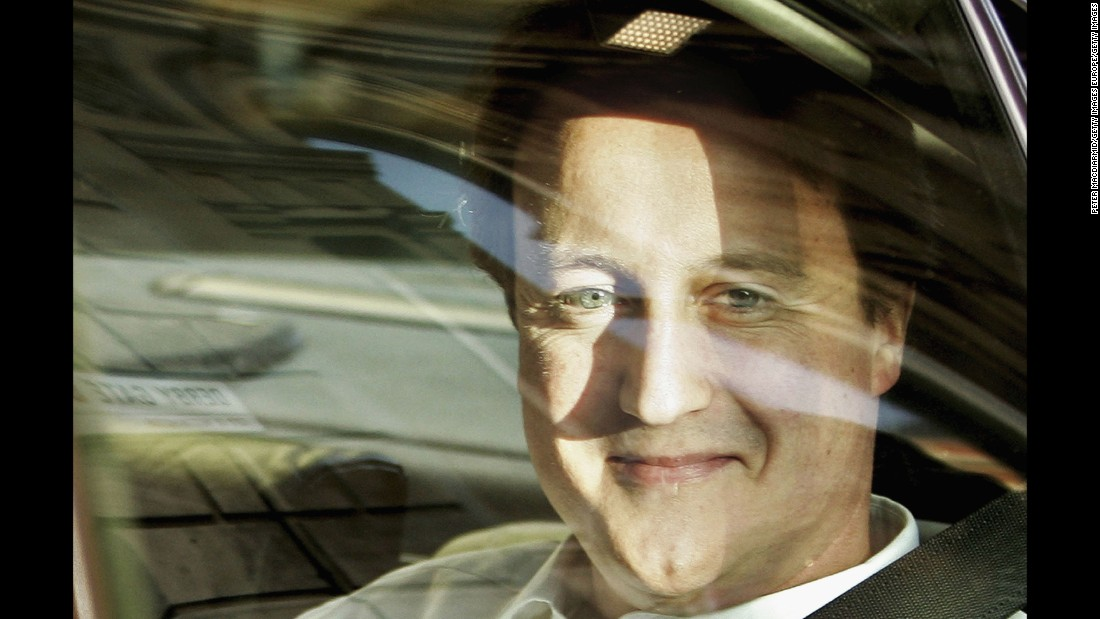 The newly-elected Cameron leaves his parliamentary office on December 7, 2005 in London.