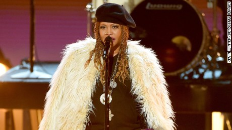 Singer Erykah Badu performs during the BET Awards last month in Los Angeles.