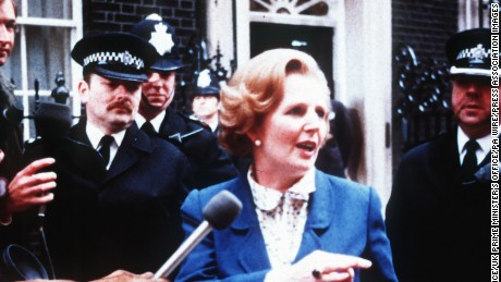 Number 10 Downing Street releases on Friday, April 12, 201 two collections of undated photographs documenting Baroness Margaret Thatcher's time in office and her lasting influence on 10 Downing Street. Thatcher died on Monday, April 8, 2013 at age 87.