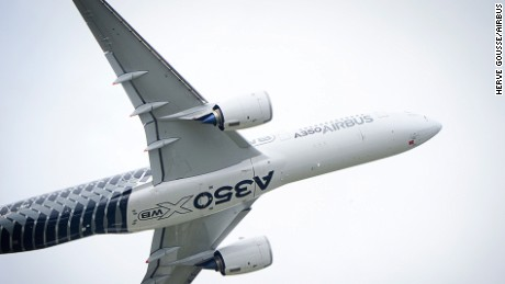 In action: Airbus's next-gen A350 XWB.