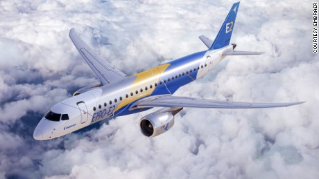 Embraer's energy-saving new jet -- the E190-E2.