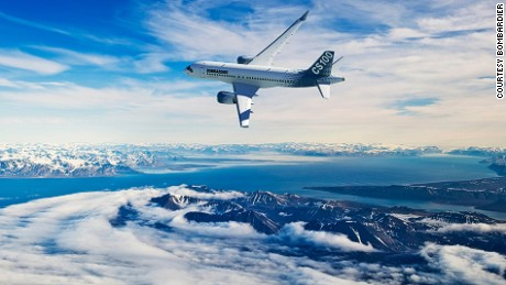 Bombardier CS100: The first narrow body airliner designed from scratch in nearly three decades.