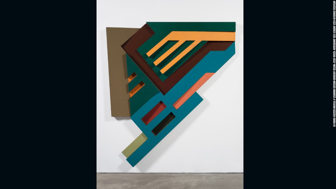 "The colorful reliefs were also a nod to Russian Constructivism. <br /><br />""I mean, there's no question that there's Tatlin and Rodchenko, and behind it is Malevich,"" said Stella, referencing some of the movement's most influential artists."