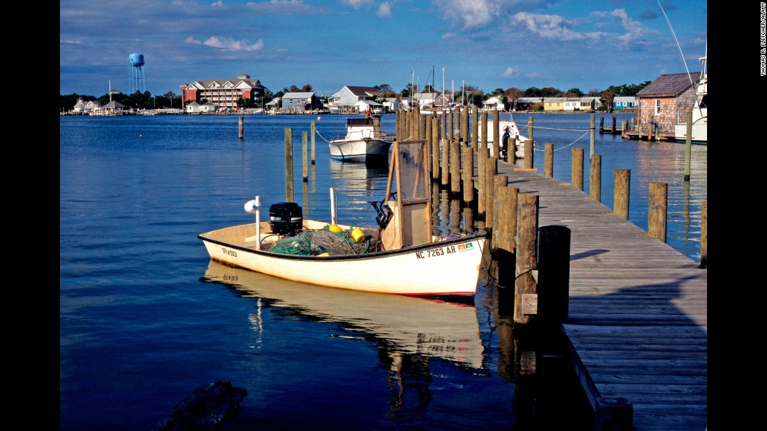 These towns along the United States' national seashores and lakeshores have their own unique appeal. Ocracoke Village hugs the southern end of Cape Hatteras National Seashore on North Carolina's Ocracoke Island.