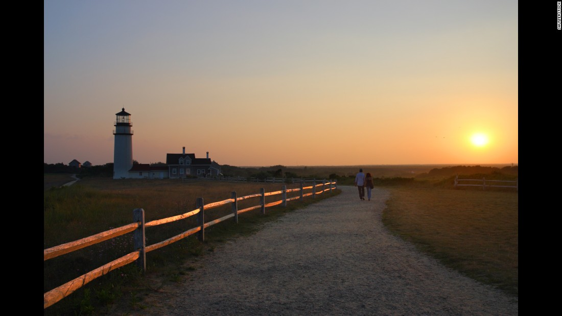 The national seashore is home to numerous lighthouses, including Highland Light in Truro.