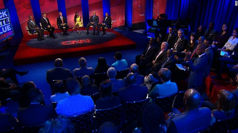 CNN's Black, White & Blue town hall in 90 seconds