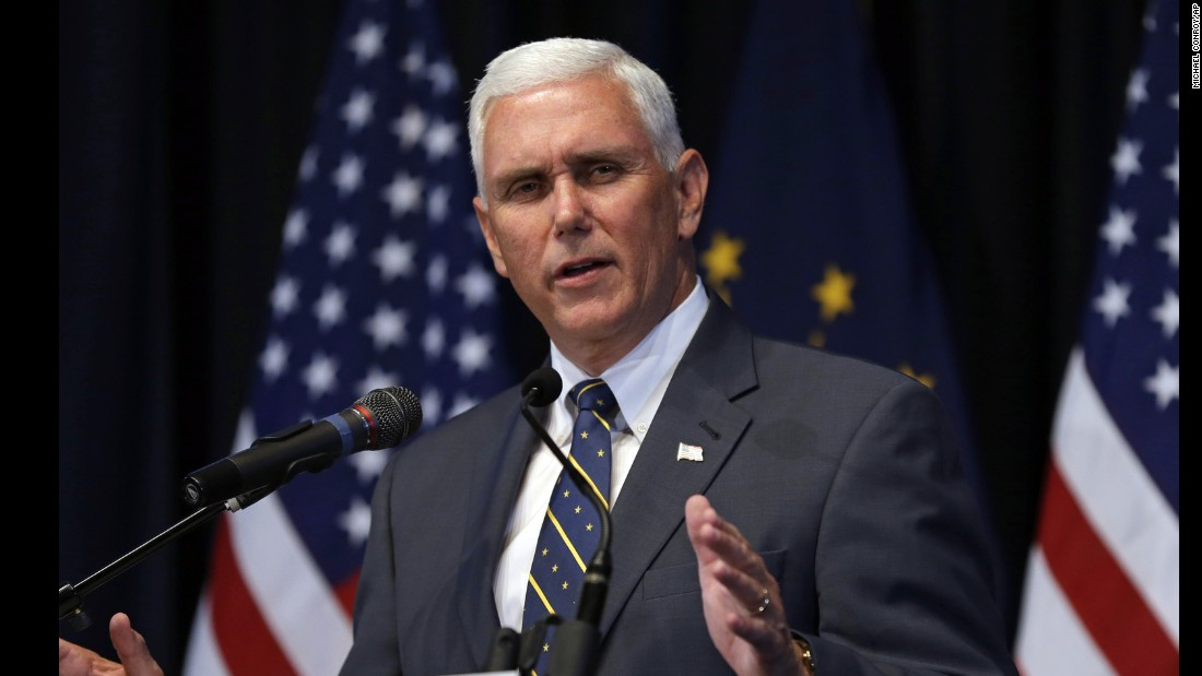 Pence formally announces his re-election campaign in Indianapolis on June 18, 2015. The Indiana native, whose status as a national star among conservatives was battered by an outcry over the state's new religious objections law at the time, launched a re-election campaign focused on the state's economy and improving schools.