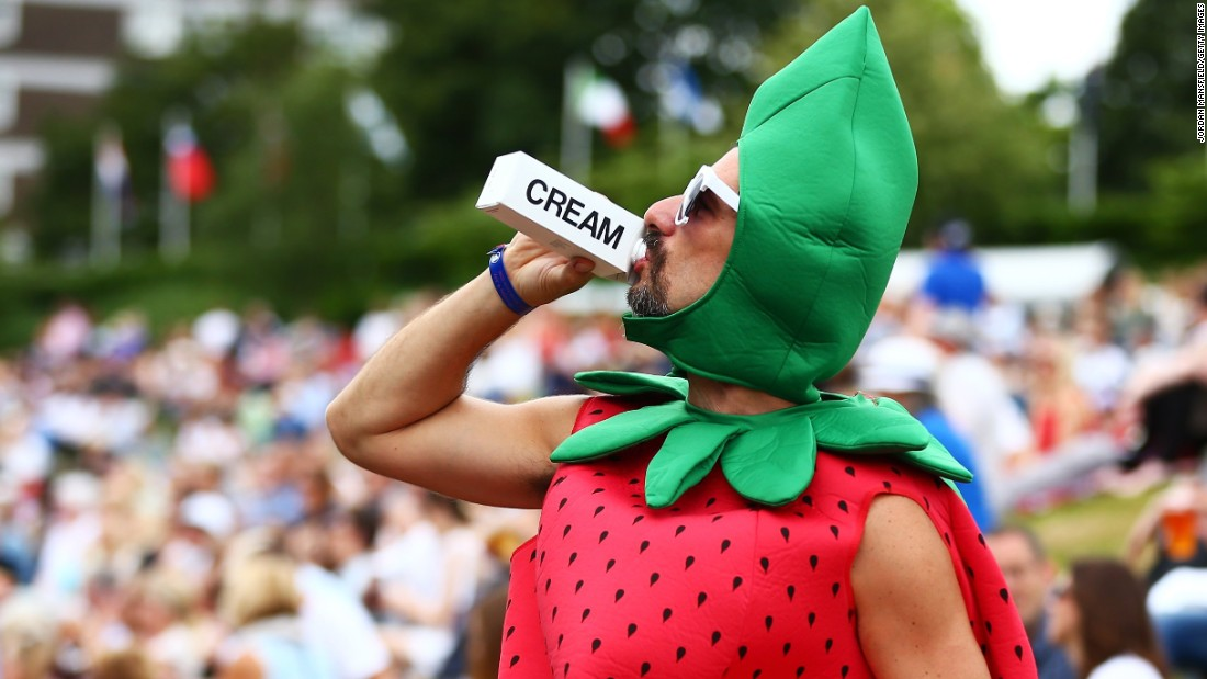 "The new additions to the 20,000 strong collection also include one more unusual number -- the costume worn by ""Strawberry Man"" to this year's Wimbledon tournament."