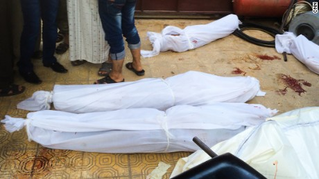 There is no morgue, so bodies are wrapped in shrouds and left until they can be taken for burial.