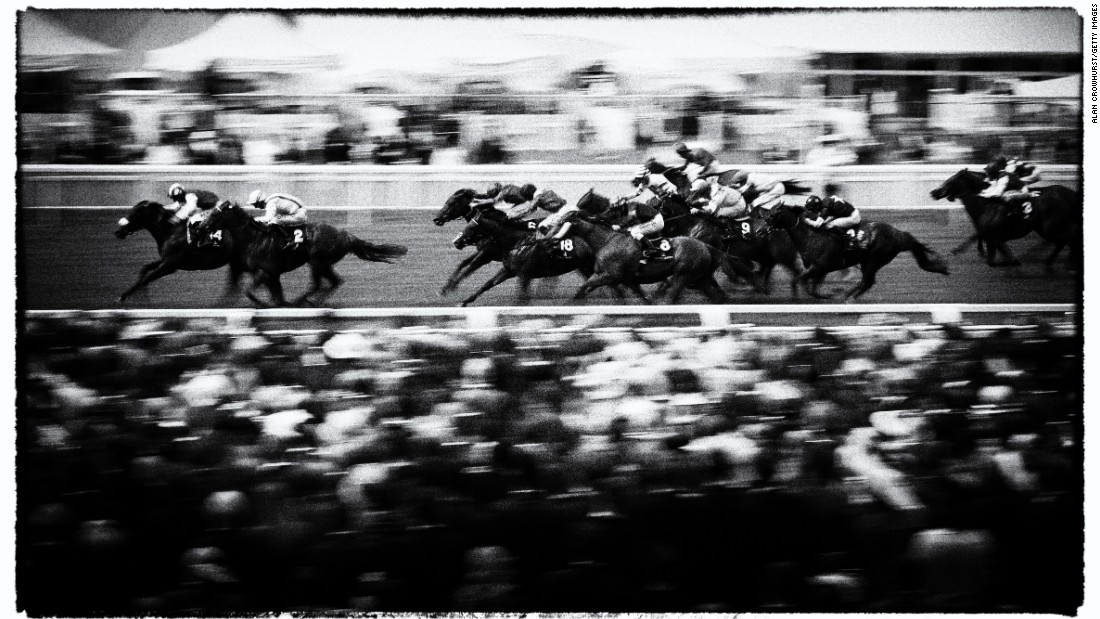 The most prestigious event in the British racing calendar, Royal Ascot is so-called because Queen Elizabeth II attends the event each June. Getty photographer Alan Crowhurst captured the historic venue's magic in atmospheric photographs, processed using digital filters.
