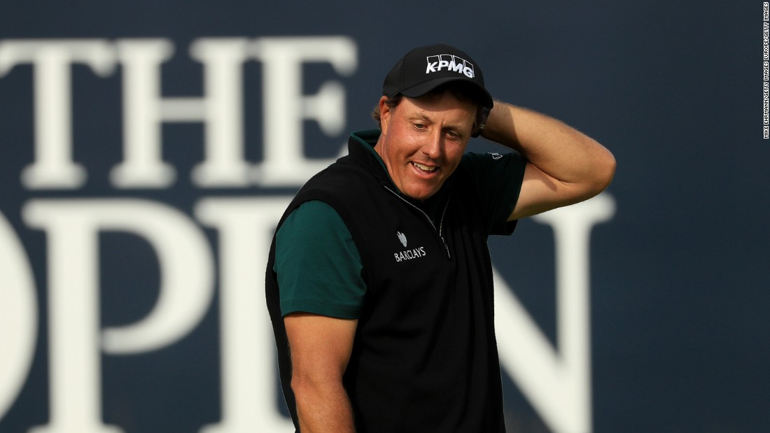 So near!  Phil Mickelson came THIS CLOSE to shooting the first score of 62 at a golf major.