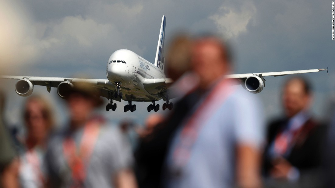 While the world's aviation execs were hammering out business deals behind closed doors at Farnborough, everyone else was having fun checking out the planes and the gear. Click through the gallery to see some of the amazing aircraft on display.