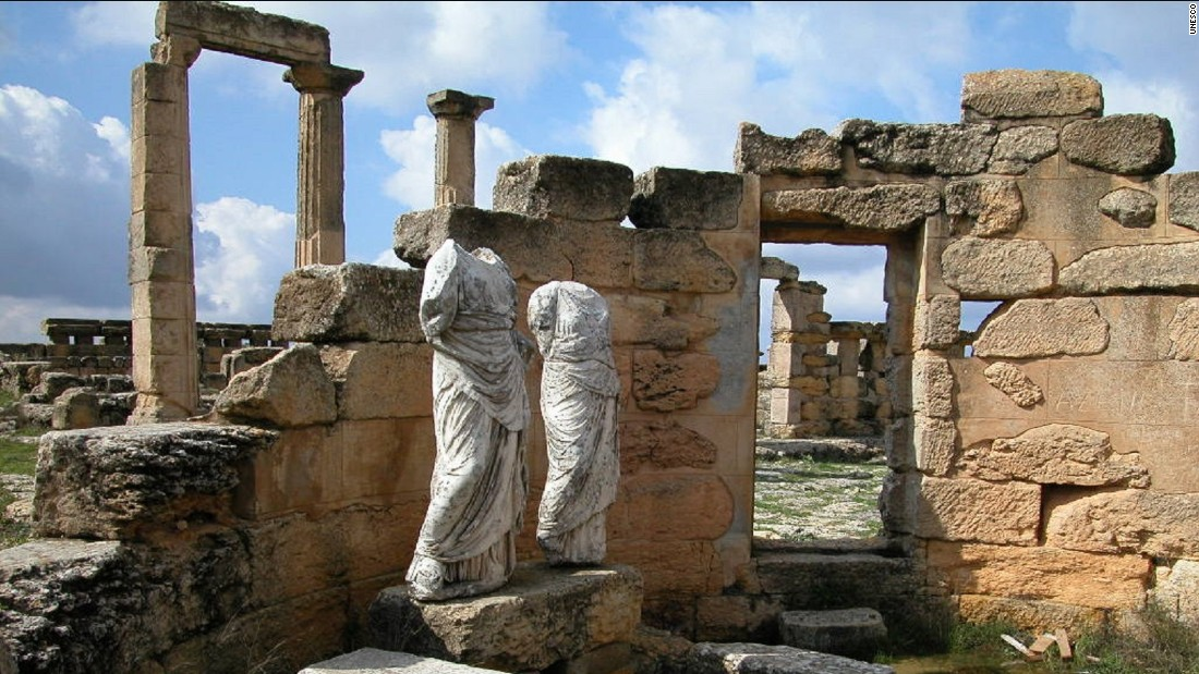Nada Al Hassan, chief of the Arab states unit at UNESCO, describes bulldozers encroaching on the ancient site of Cyrene (pictured), once a Hellenic city that adapted to Roman rule before succumbing to an earthquake in 365 AD.