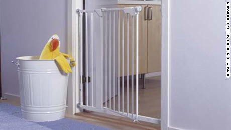 IKEA's PATRULL KLAMMA safety gate + extension was recalled because it can become unlocked and open unexpectedly. It was first recalled in May after reports of the gate coming unmounted from the wall and not staying in place. There were at least three reports of children falling down stairs as a result.