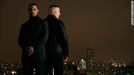 "Omari Hardwick stars as James 'Ghost' St. Patrick and Joseph Sikora as Tommy Egan on the Starz series ""Power."""
