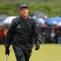 Mickelson in the rain