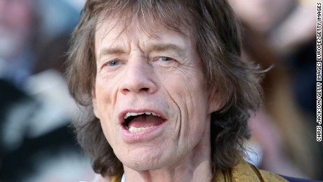 LONDON, ENGLAND - APRIL 04:  Mick Jagger arrives for the private view of 'The Rolling Stones: Exhibitionism' at the Saatchi Gallery on April 4, 2016 in London, England.  (Photo by Chris Jackson/Getty Images)