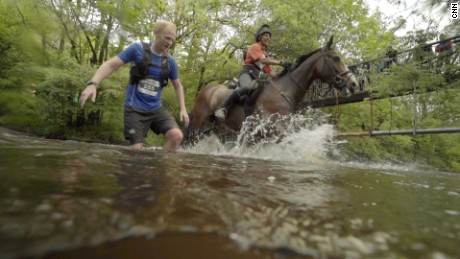 The foot (and hoof) race that pits humans against horses