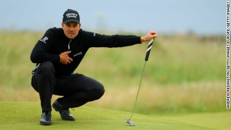 Sweden's Henrik Stenson ate into Mickelson's lead with an impressive 65.