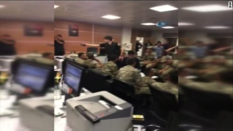 Turkish military seen inside Turkish state TV