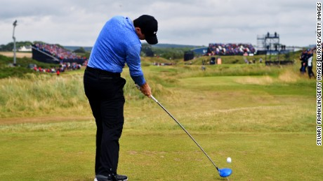 Rory McIlroy carded a level-par 71 on day two.