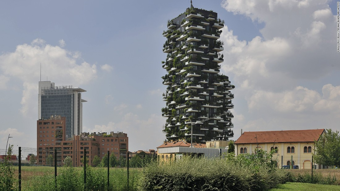 Designed by Stefano Boeri architects, the 116-meter and 76-meter towers were completed in 2014.