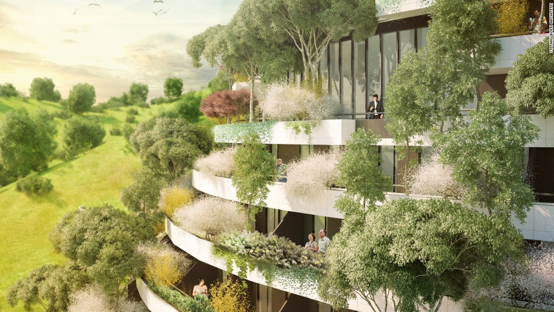 Once completed, the tree-covered hotel, made of interwoven design plots, will blend with the local topography.