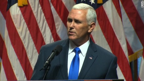 Donald Trump announces Indiana Governor Mike Pence as his vice-presidential choice on Saturday, July 16.