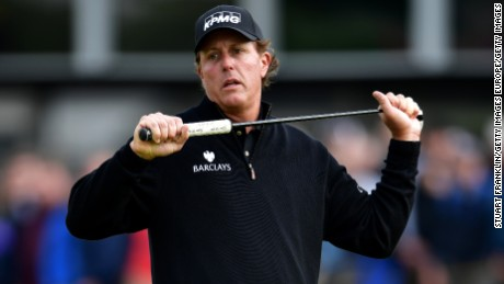 Phil Mickelson battled with Henrik Stenson on a thrilling final day of the British Open in July.