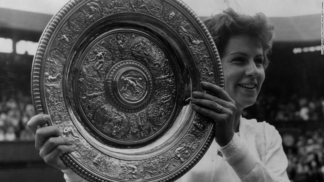 "Brazilian <a href=""http://edition.cnn.com/2016/07/20/tennis/rio-2016-maria-bueno-princess-diana/index.html"">Bueno won three Wimbledon singles </a>title during an illustrious career. She won seven grand slam single titles in all, as well as 11 doubles titles and one mixed doubles crown."