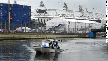 Canals around the Olympic Park are no longer accessible to cruising boats.