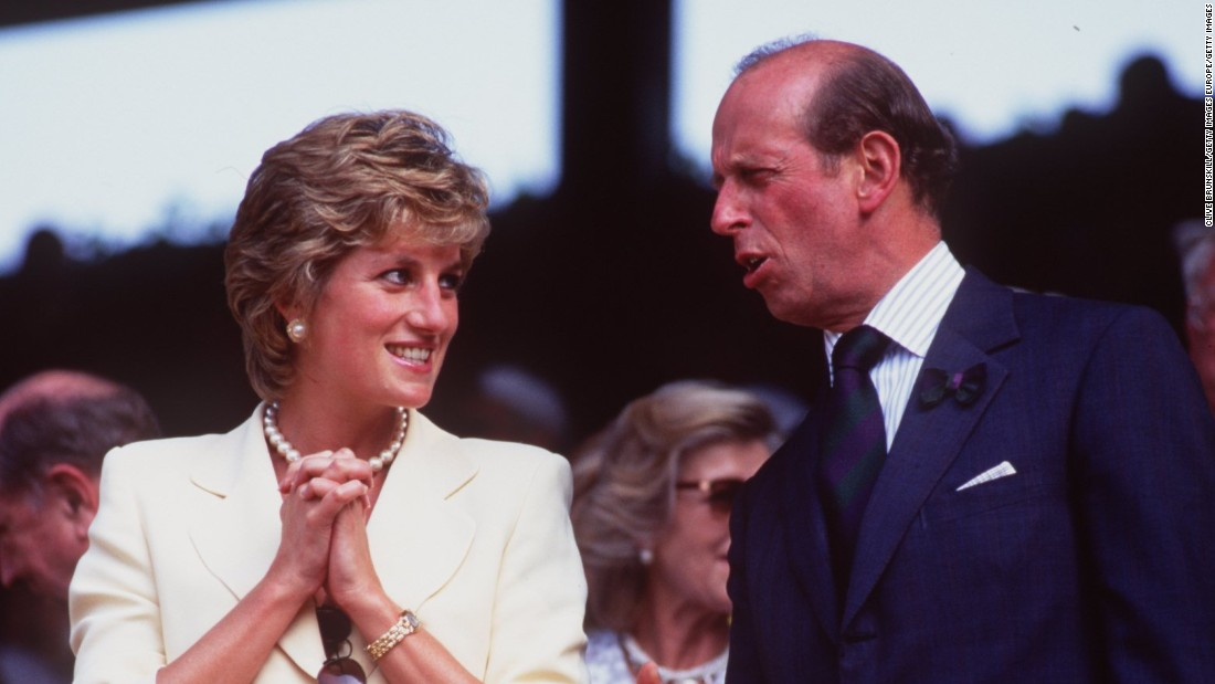 Princess Diana was in attendance at the 1995 men's WImbledon final to watch Pete Sampras come from a set down to defeat Boris Becker on Centre Court.