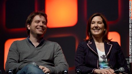 Director Gareth Edwards and producer Kathleen Kennedy.