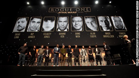 "The ""Rogue One"" panel at the recent ""Star Wars Celebration Europe"" in London."
