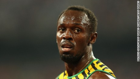 BEIJING, CHINA - AUGUST 29:  Usain Bolt of Jamaica celebrates after crossing the finish line to win gold in the Men's 4x100 Metres Relay final during day eight of the 15th IAAF World Athletics Championships Beijing 2015 at Beijing National Stadium on August 29, 2015 in Beijing, China.  (Photo by Patrick Smith/Getty Images)
