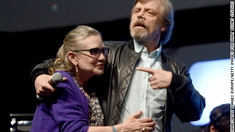 """Star Wars"" actors Mark Hamill and Carrie Fisher."