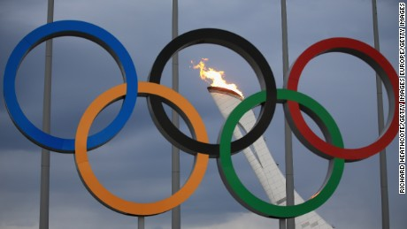 SOCHI, RUSSIA - JANUARY 27:  The Olympic Cauldron is tested by fire crews at the Sochi 2014 Winter Olympic Park in the Costal Cluster on January 27, 2014 in Sochi, Russia.  (Photo by Richard Heathcote/Getty Images)