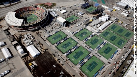 There are two other show courts as well as practice courts.
