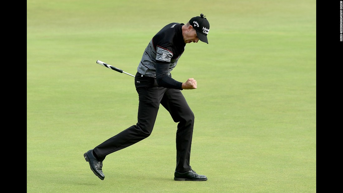 "Henrik Stenson pumps his fist after a birdie in the final round of the British Open on Sunday, July 17. Stenson ended with a 63 -- tied for the best score ever in a major -- <a href=""http://www.cnn.com/2016/07/17/golf/british-open-day-four/index.html"" target=""_blank"">to win his first major championship. </a>"