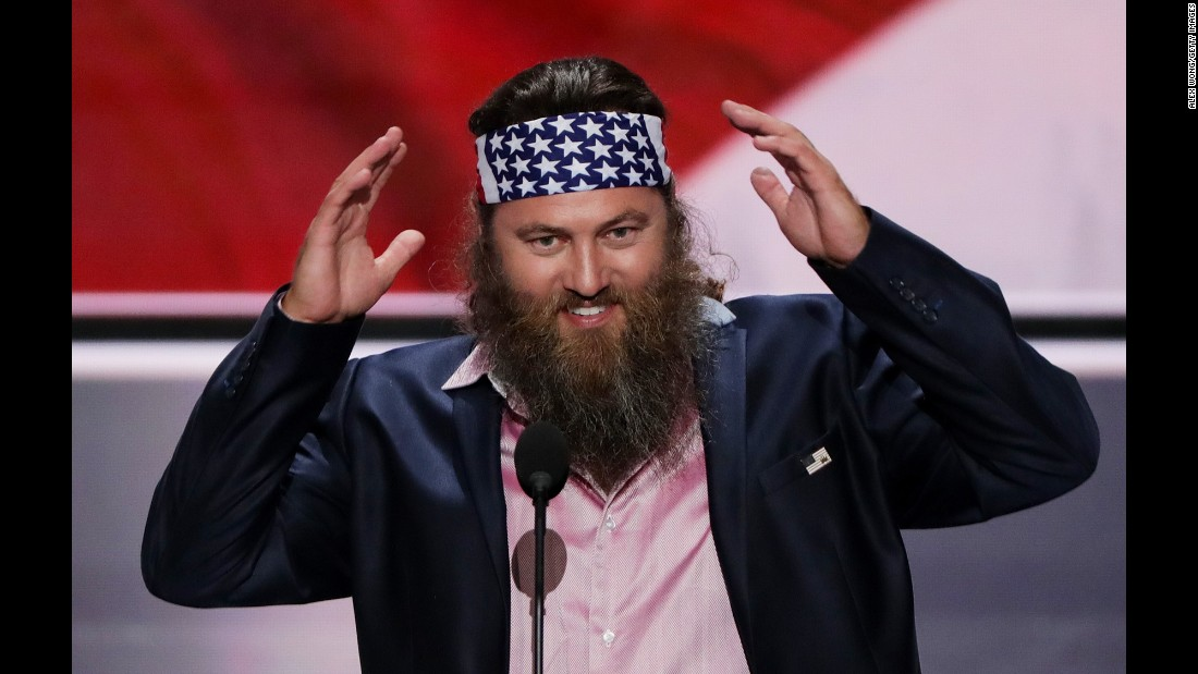 "Willie Robertson, star of the hit TV show ""Duck Dynasty,"" promised the crowd that Trump ""will have your back."""