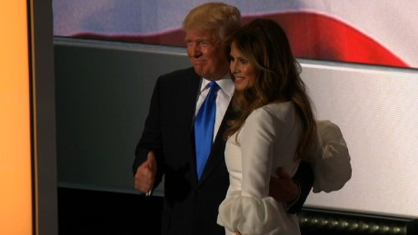 Melania Trump and Donald Trump at RNC
