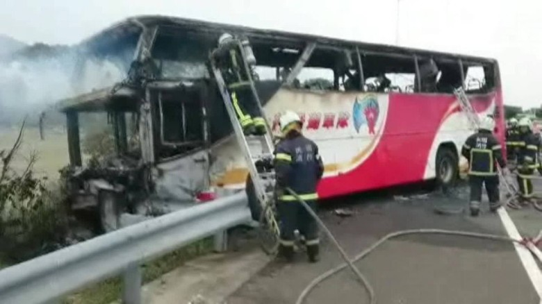 Taiwan bus fire kills dozens