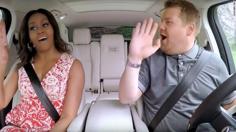 Michelle Obama jams out on 'Carpool Karaoke'