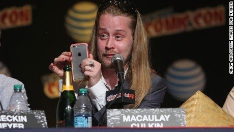 Macaulay Culkin speaks at New York Comic Con 2015 in New York City.