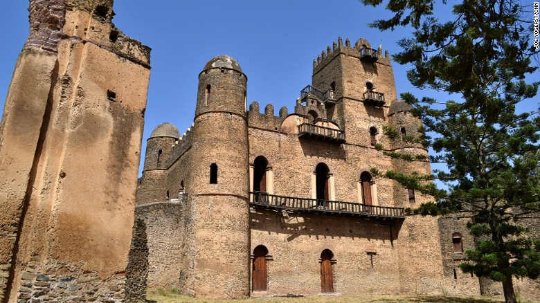 <strong>Gondar, Ethiopia: </strong>The capital of the old Ethiopian Empire, Gondar suffered under repeated invasions from the mid-1800s. However several castles and churches -- including Fasil Ghebbi, a royal citadel pictured here -- remain, offering a look into one of the few medieval African cities that's still alive today.