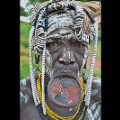 Ethiopia8-Mursi woman with lip plate Omo Valley c Joe Yogerst