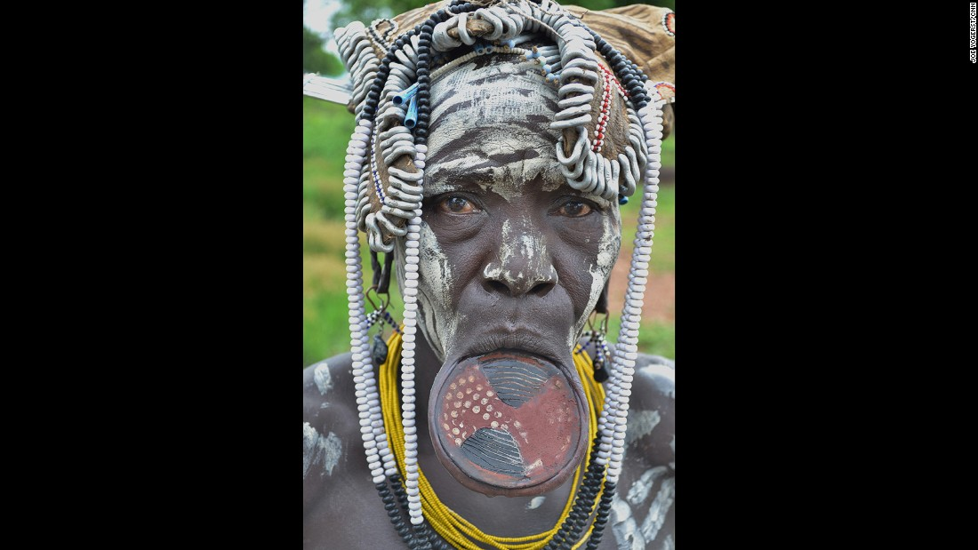 One of the great crossroads of humanity, more than 50 tribes live in and around the Omo Valley of southwest Ethiopia. Many of them -- like the Hamar and Mursi -- cling to ancient ways and means like ceramic lip disks, ritual scarring, body painting and nomadic herding.